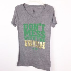 Adidas 'Don't Mess With The Irish' V Neck T-Shirt